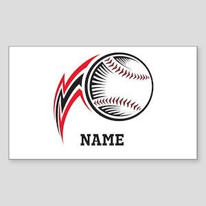 Personalized Baseball Pitch Sticker (Rectangle)