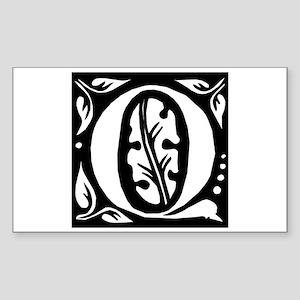 Art Nouveau Initial Q Rectangle Sticker