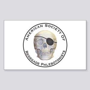 Renegade Phlebotomists Sticker (Rectangle)