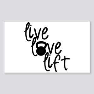 Live, Love, Lift Sticker