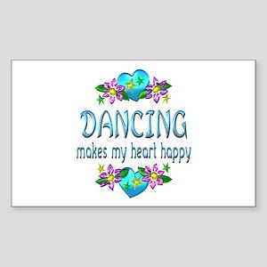 Dancing Heart Happy Sticker (Rectangle)