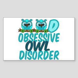 Cute Owl Sticker (Rectangle)