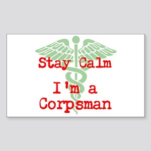 Stay Calm I'm A Corpsman Sticker
