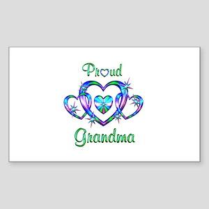 Proud Grandma Sticker (Rectangle)