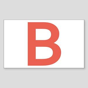 Big Red Letter Sticker