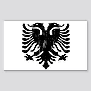 albania_eagle_distressed Sticker