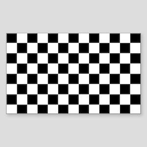 BLACK AND WHITE Checkered Pattern Sticker