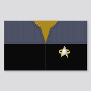 Star Trek DS9 Ops Cmdr Sticker (Rectangle)