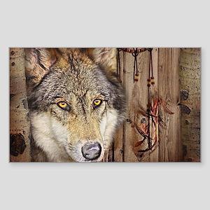 wolf dream catcher birch wo Sticker