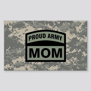 Proud Army Mom Camo Sticker (Rectangle)