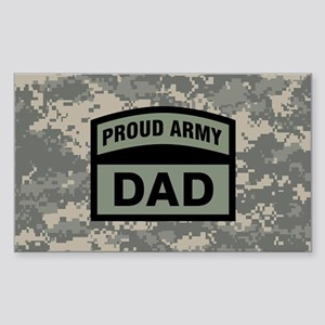 Proud Army Dad Camo Sticker (Rectangle)