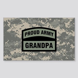 Proud Army Grandpa Camo Sticker (Rectangle)