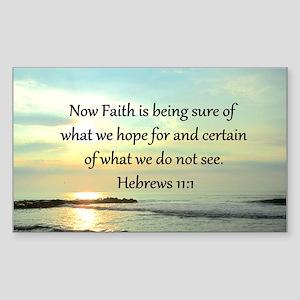 HEBREWS 11:1 Sticker (Rectangle)