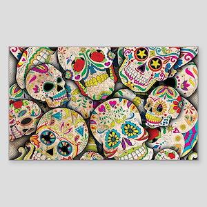 Sugar Skull Collage Sticker