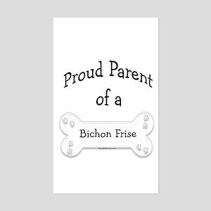 Proud Parent of a Bichon Frise Sticker (Rectangula