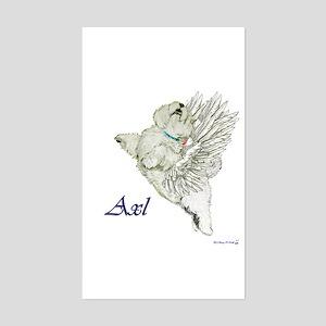 Westie Angel - Axl Rectangle Sticker