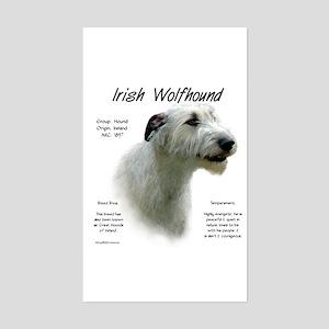 Irish Wolfhound (white) Sticker (Rectangle)