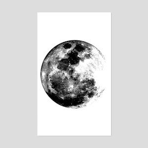 Full Moon Rectangle Sticker