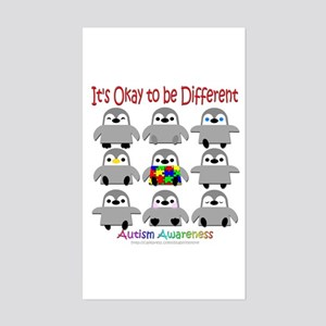 Autism Awareness Penguins Rectangle Sticker