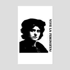 Vive la feminista! Rectangle Sticker