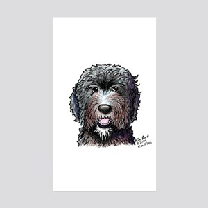 WB Black Doodle Rectangle Sticker