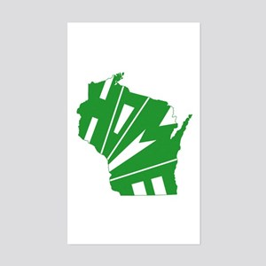 Wisconsin Home Sticker (Rectangle)