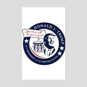 Trump 45th President Sticker (Rectangle)