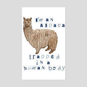 I'm an Alpaca Rectangle Sticker