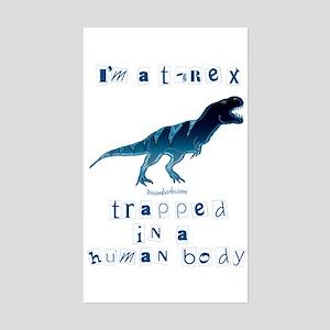 I'm a T-Rex Rectangle Sticker