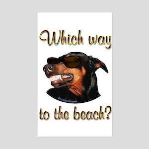Beach Dobe Rectangle Sticker