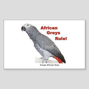 African Greys Rule Sticker
