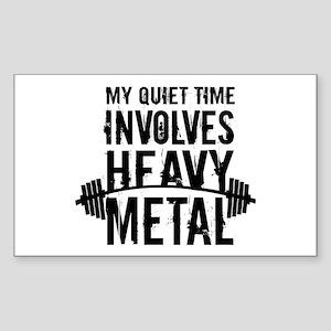 My Quiet Time Involves Heavy Metal Sticker