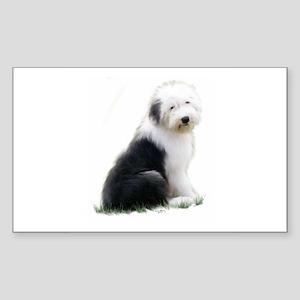 old english sheepdog puppy sitting Sticker