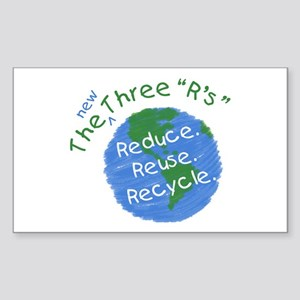 Reduce. Reuse. Recycle. Rectangle Sticker