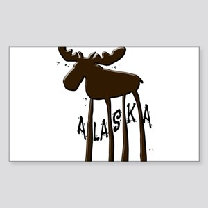Alaska Moose Sticker (Rectangle)
