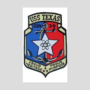 USS Texas CGN 39 Rectangle Sticker
