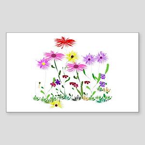 Flower Bunch Sticker (Rectangle)