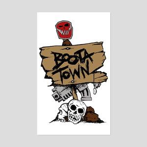 Boota Town Sticker (Rectangle)