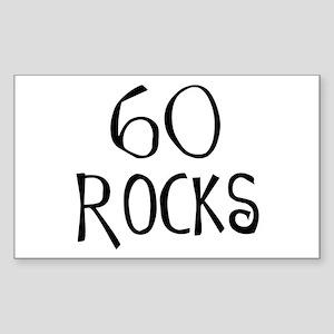 60th birthday saying, 60 rocks! Sticker (Rectangul