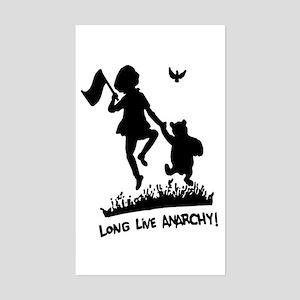 Long Live Anarchy Rectangle Sticker