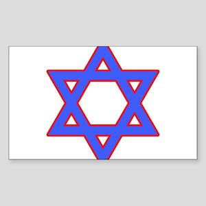 Star of David Rectangle Sticker