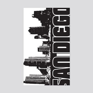 San Diego Skyline V Sticker (Rectangle)