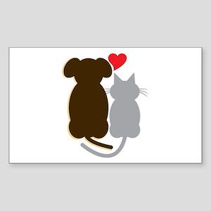 Dog Heart Cat Sticker