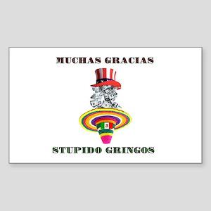 gringo welfare Sticker (Rectangle)