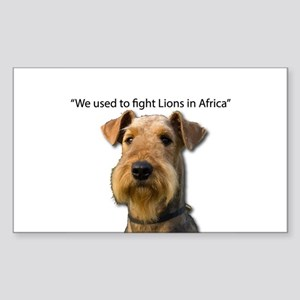 Airedales used to Fight Lions in Africa wi Sticker