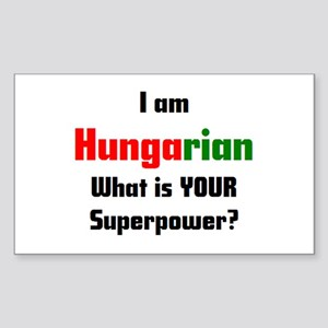 i am hungarian Sticker (Rectangle)