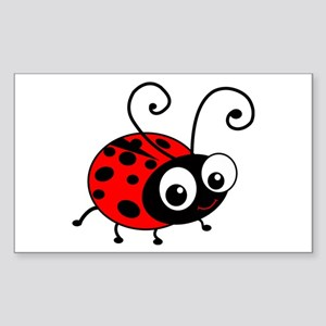 Cute Ladybug Sticker (Rectangle)