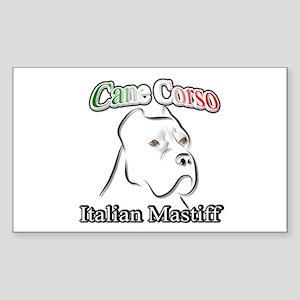 Cane Corso white t Rectangle Sticker