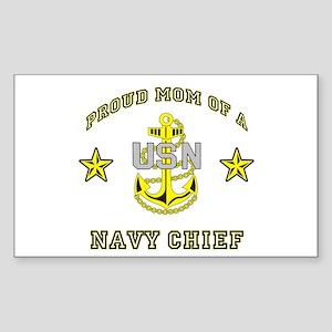 Chief Mom Rectangle Sticker