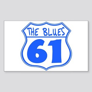 The Blues Highway 61 Sticker (Rectangle)